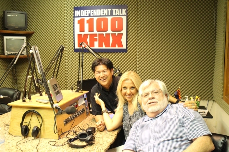 LIve at KFNX with Dawn, Terry and producer Colin Tanji